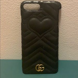 Leather Gucci phone case. Fits 7&8plus